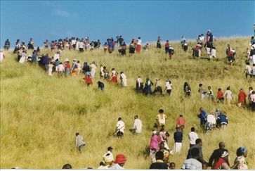 African villagers traveled long distances to receive free champagne courtesy of the underperforming Chicago Cubs.